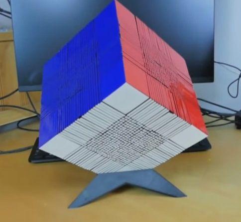 El video el cubo de Rubik más grande del mundo  proZesa curiosidades diversion impresión 3d juegos