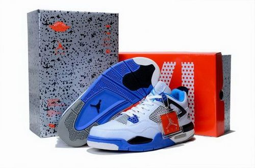 2012 Air Jordan 4 Iv Retro Mens Shoes Limited Edition White Blue Outlet Canada