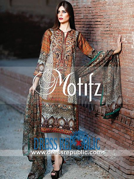 Lawn Suits Pakistani by Motifz for Eid 2014  Buy Online Lawn Suits Pakistani by Motifz for Eid 2014 in United Kingdom. We Deal in Complete Sets at Discounted Wholesale Prices. by www.dressrepublic.com
