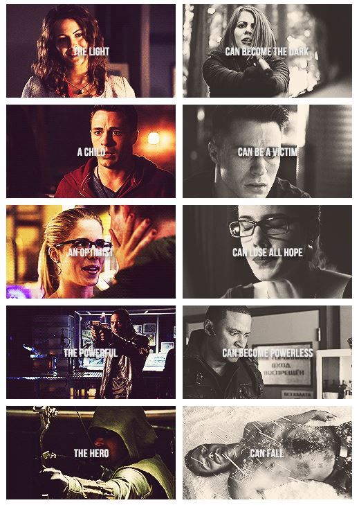 #Arrow Season 3 - juxtapositions