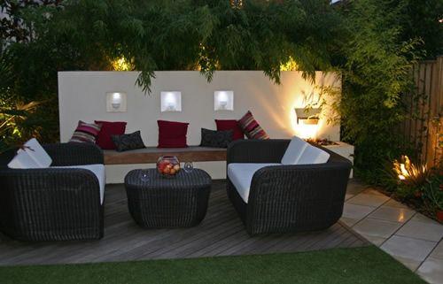 Dise o de jard n moderno en londres 5 iluminado jardines for Modelos de terrazas modernas