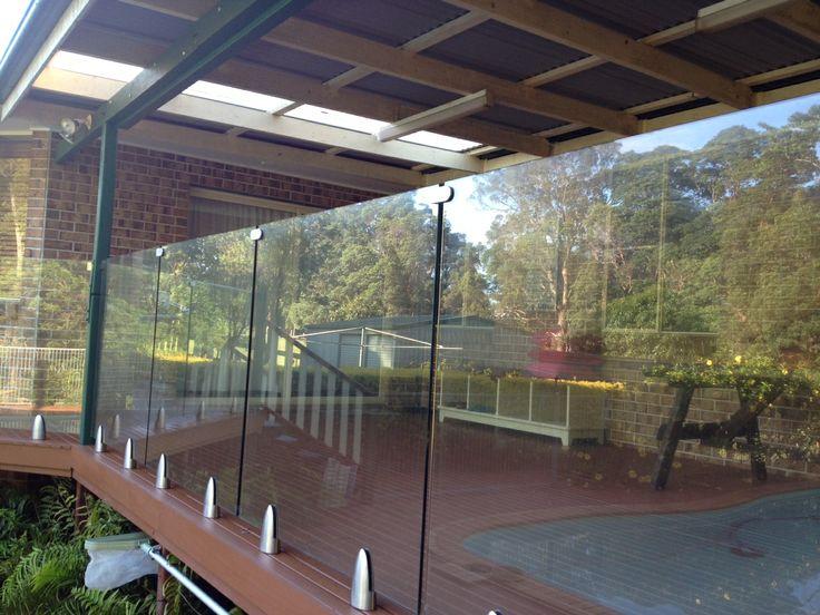 Glass is a viable option around a pool area.