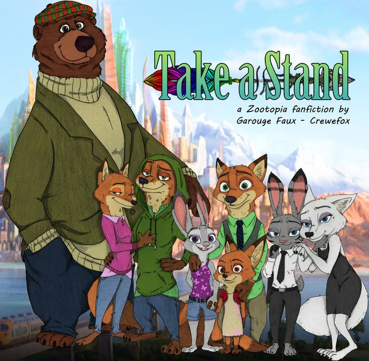 """Take A Stand - Tribute - Colorized by Otakurec37.deviantart.com on @DeviantArt #fanfiction #luna #marian #oc #robin #zootopia #nickwilde #nick_wilde #judyhopps #judy_hopps  This is essentially the title page for the crewefox's fanfiction """"Take a Stand"""". For reference, the characters from left to right are: """"Little"""" John, Marian Loxley (nee - Wilde), Robin Loxley, Judy Hopps, Nick Wilde, Luna Wilde, Jack Savage, and Skye Winter"""