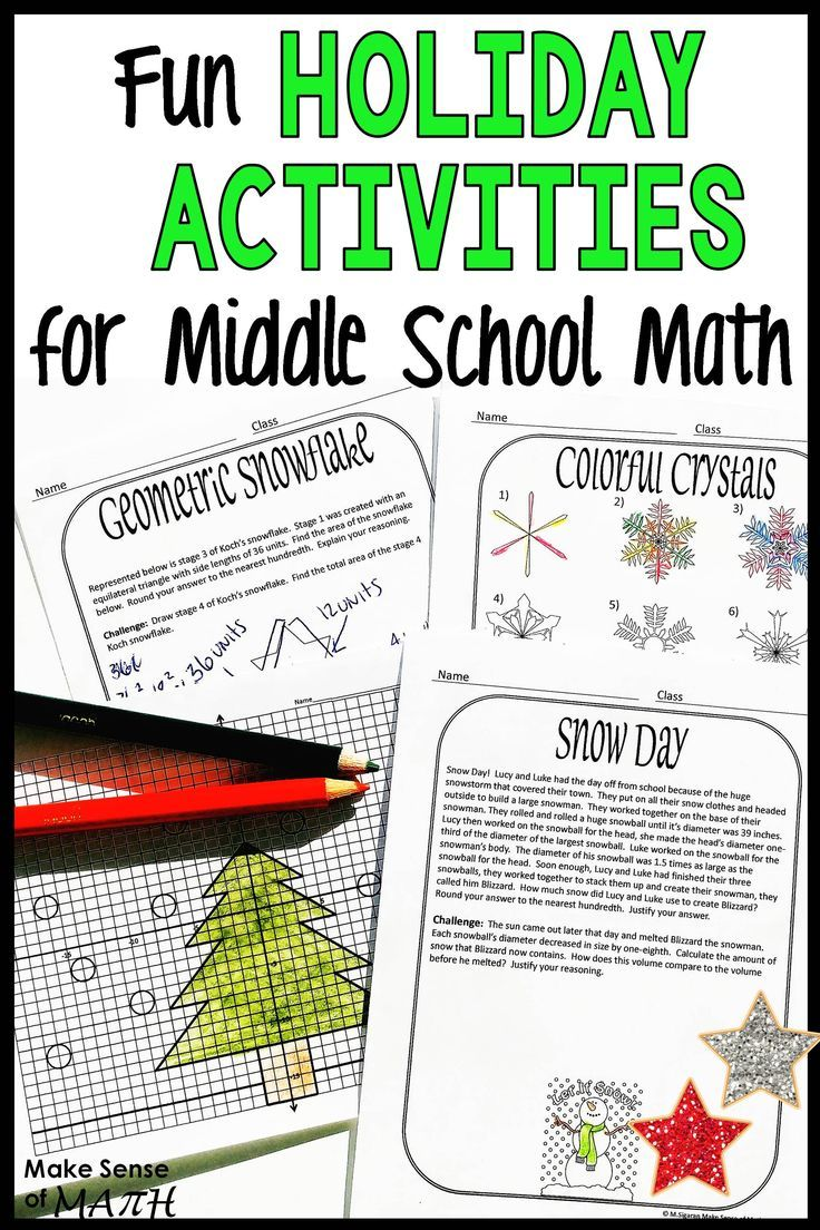Holiday Math Activities Middle School Christmas Math Printables And Activities Holiday Math Worksheets Holiday Math Maths Activities Middle School