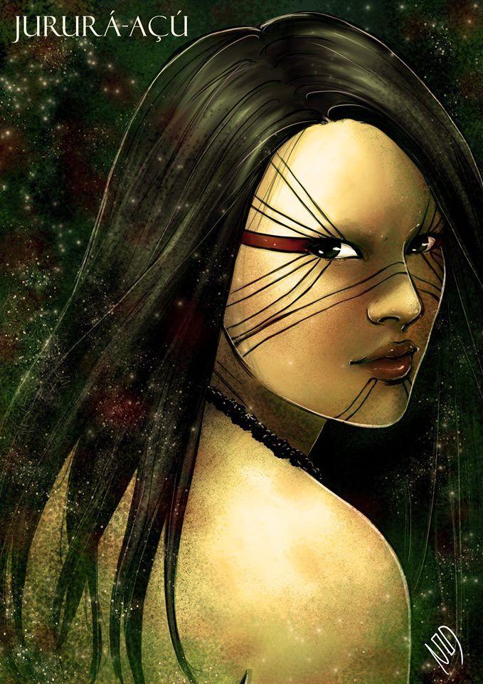 Jururá-Açú - Deusa que tinha livre acesso ao submundo, por ter libertado Anhangá da prisão, tornou-se a única deusa que podia entrar e sair livremente do inferno, então, Tupã castigou esta deusa transformando-a em uma tartaruga, o que lhe dificultava a locomoção, mas em contra partida, lhe dava enorme poder de negociação, pois entrava e saía, sem ser muito notada, se disfarçava de pedra e sabia tudo o que acontecia em qualquer mundo.