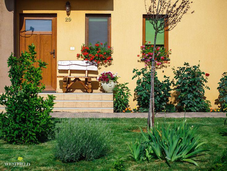 Peluză cu landscaping în #Westfield #arad #residential #houses #green #outdoor #garden #100povestifrumoase