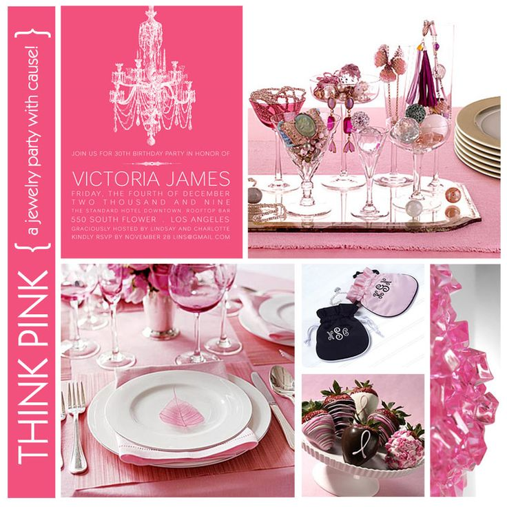 Gorgeous Invitation Design | Think Pink Party
