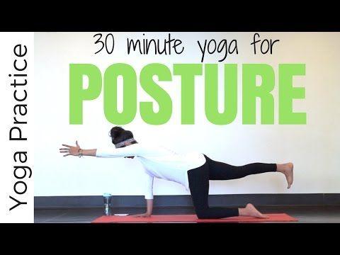 30 minute Vinyasa Yoga for Posture - YouTube
