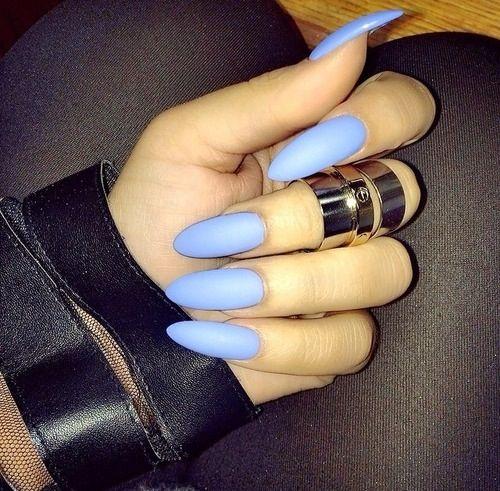 Baby blue almond nails. | Fashion | Pinterest | Almonds, Almond nails ...