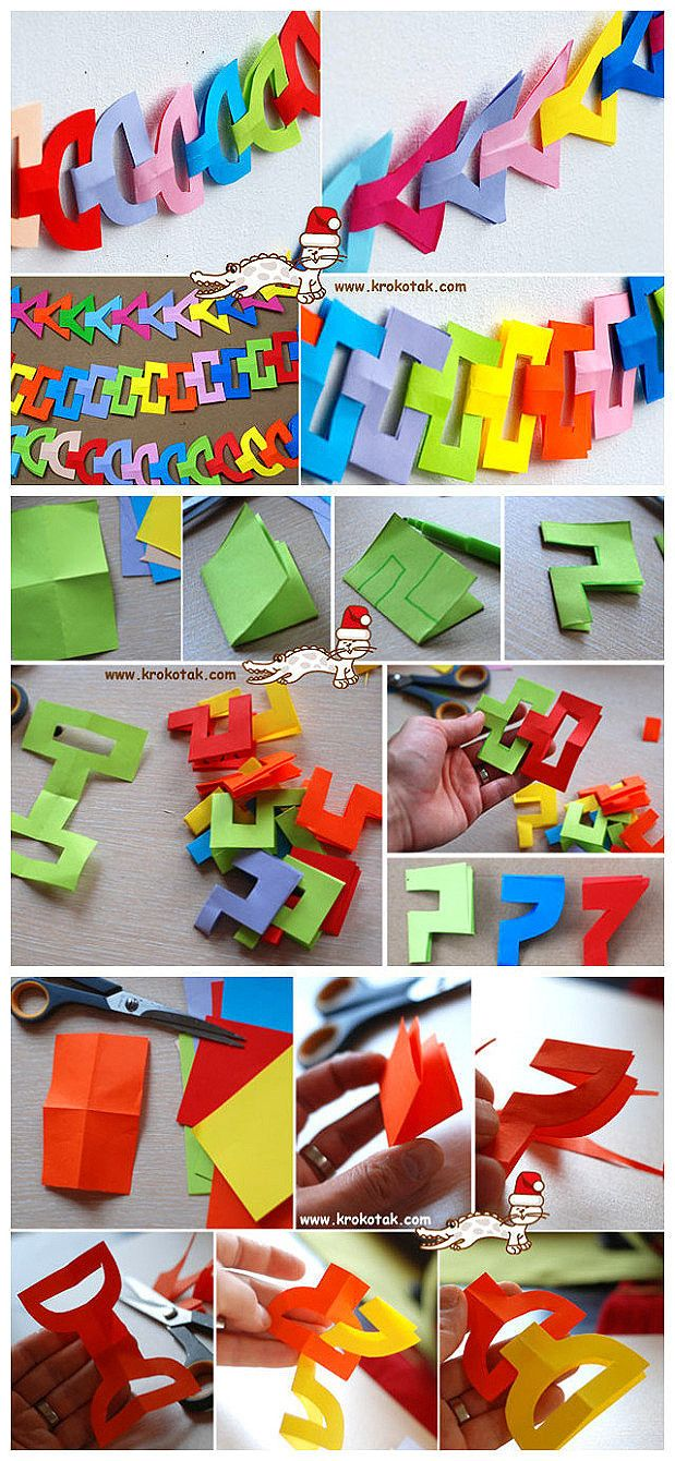 Paper chain...got to get the kids to help make one of these...looks like fun