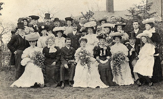 A sailors wedding in about 1905 by lovedaylemon, via Flickr
