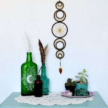 Small Moon Phase Wall Hanging, MoonPhase Wall Art, Moon Phase Dreamcatcher…