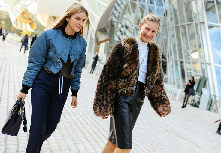 Phil Oh fashion Week street style spring ready to wear 2016 - Gaia Repossi + Elizabeth von Guttman