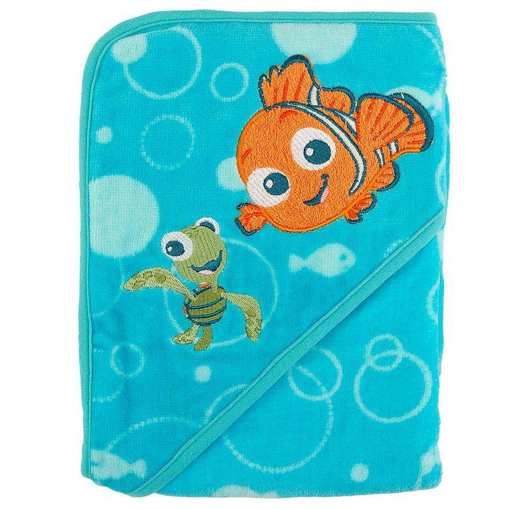 Disney Baby Nemo Printed Hooded Towel Finding Nemo