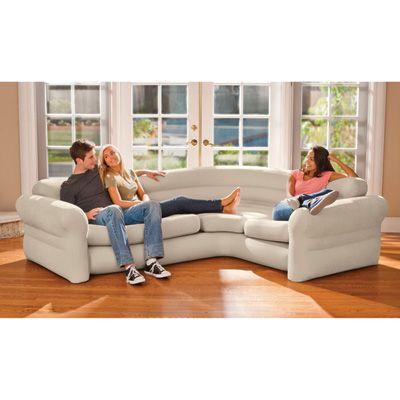 Cheap Sofas Intex Air Corner Sofa u Neutral Color