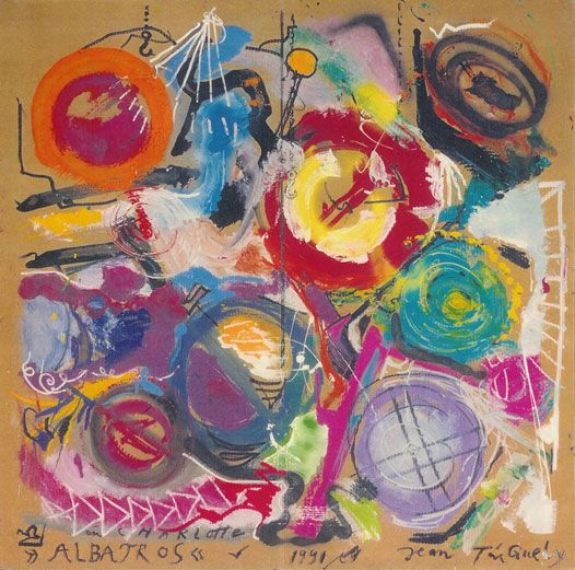 jean tinguely painting.. scribbles!