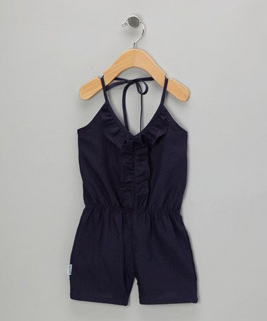 Navy Ruffle Romper - Infant, Toddler & Girls by Gypsy Kids on #zulily #cutiestyle