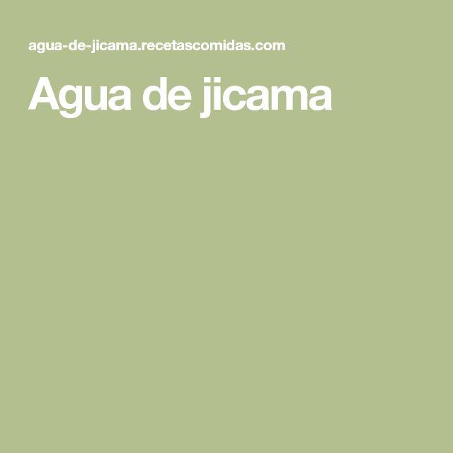 Agua de jicama