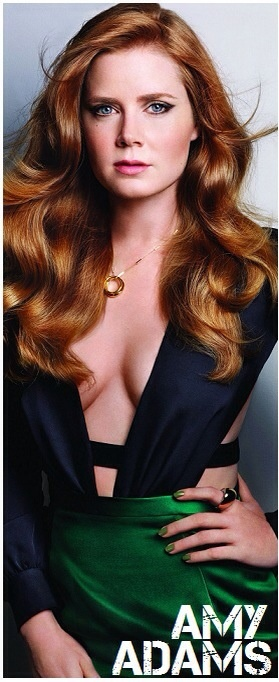 Amy Adams red hair and cleavage
