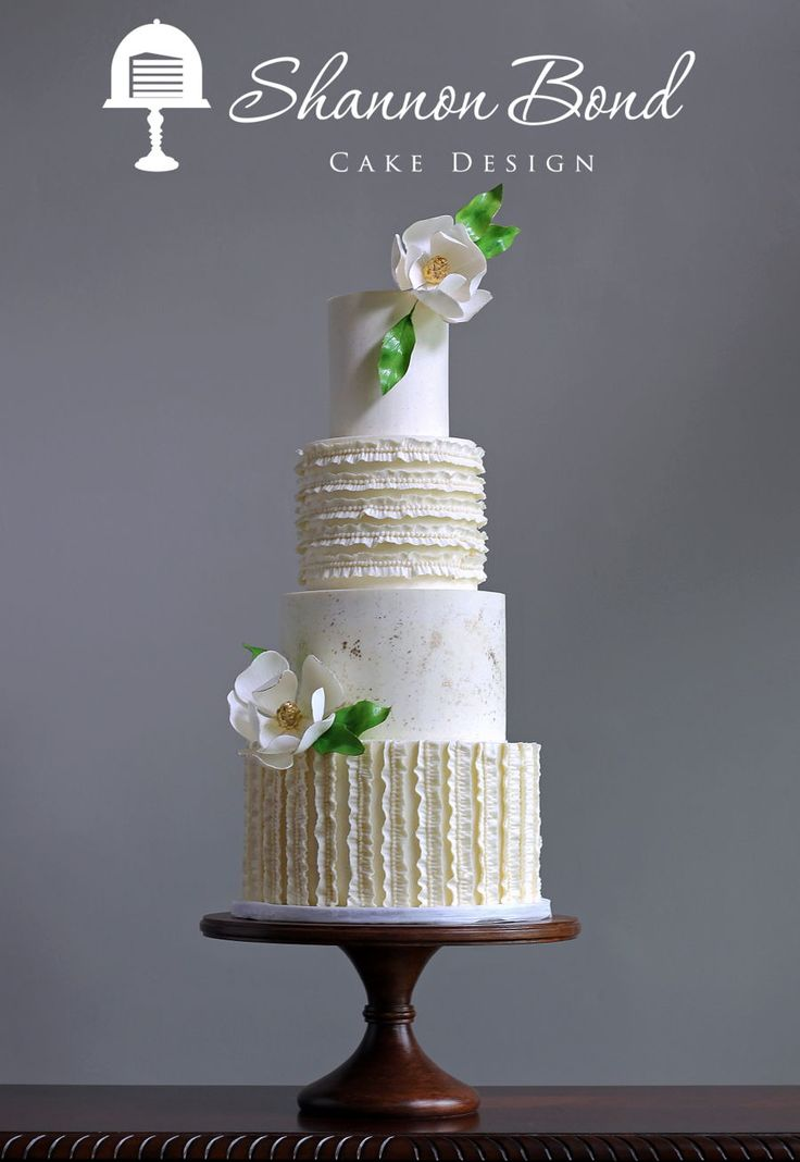 Ruched Ruffle Buttercream Cake  on Cake Central