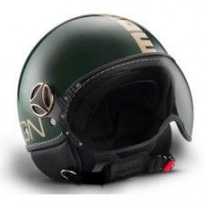 Casque Momo Design Fighter II Vert Anglais Or #speedwayfr #speed #france #scooter #casque #green #casques