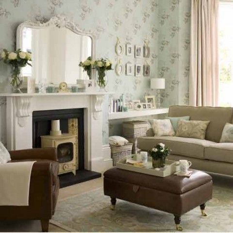 Estilo vintage en tu sala....: Living Rooms Design, Rooms Decor Ideas, Shabby Chic, Small Living Rooms, Interiors Design, Vintage Modern, Small Spaces, Vintage Living, Living Rooms Ideas