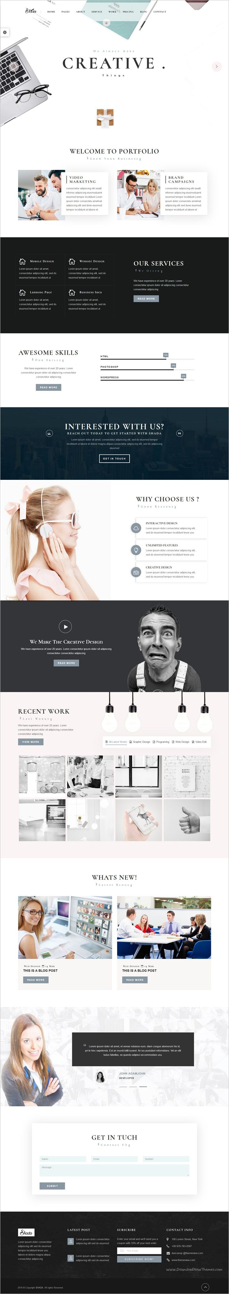 Shada is beautifully design premium #bootstrap HTML template for multipurpose‍ #agency website with 18+ unique homepage layouts download now➩  https://themeforest.net/item/shadaresponsive-marketingcontractorcorporateportfoliomedicalhair-salontraining-html-template/18929537?ref=Datasata
