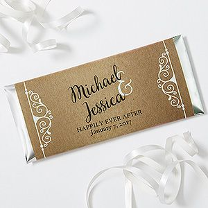 Create lasting Wedding memories with the Rustic Chic Wedding Personalized Candy Bar Wrappers. Find the best personalized wedding gifts at PersonalizationMall.com