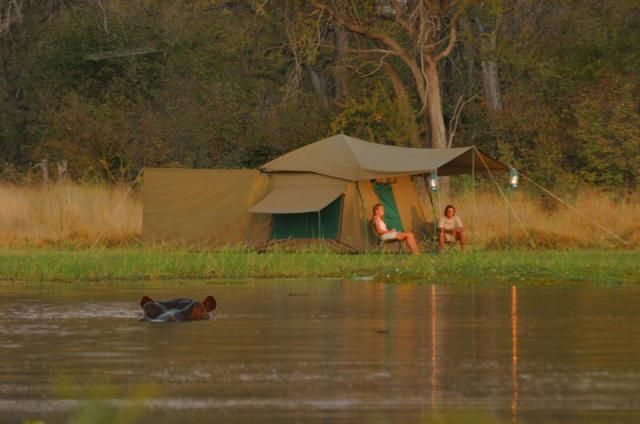 Because of the temporary nature of a mobile tented safari camp, they will not be as luxurious as a permanent lodge but what they do offer is a very 'close to nature' bush experience.