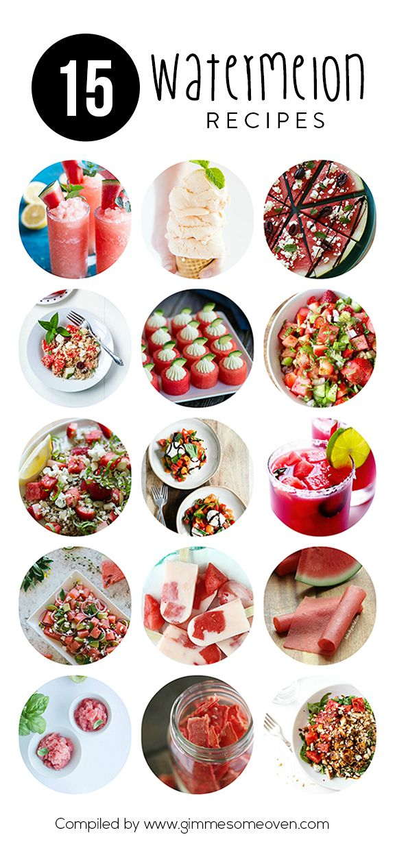 A delicious collection of watermelon recipes from food bloggers | gimmesomeoven.com