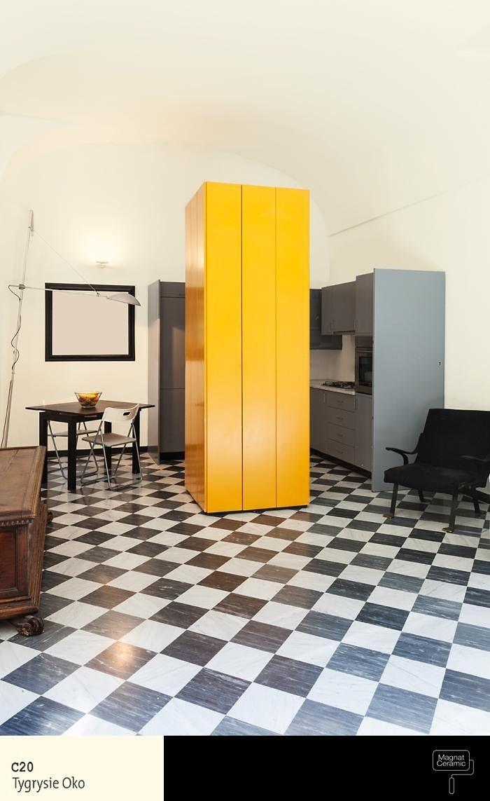 Żółtawa kolorystyka w kuchni