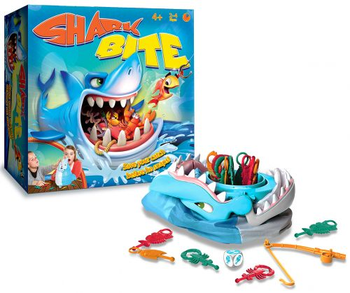 Shark Bite Drumond Park review & giveaway. Win this fun action game from Drumond Park - you could put it away for Christmas! But what ever you do don't let the shark bite!