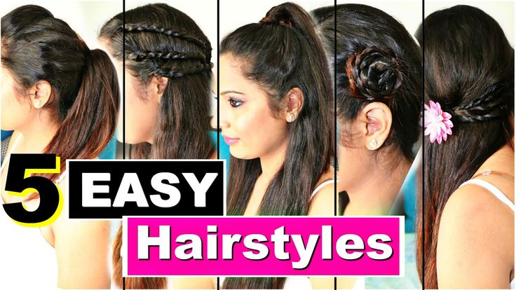 5 Easy Heatless Hairstyles | Quick College Hairstyles | ShrutiArjunAnand - YouTube