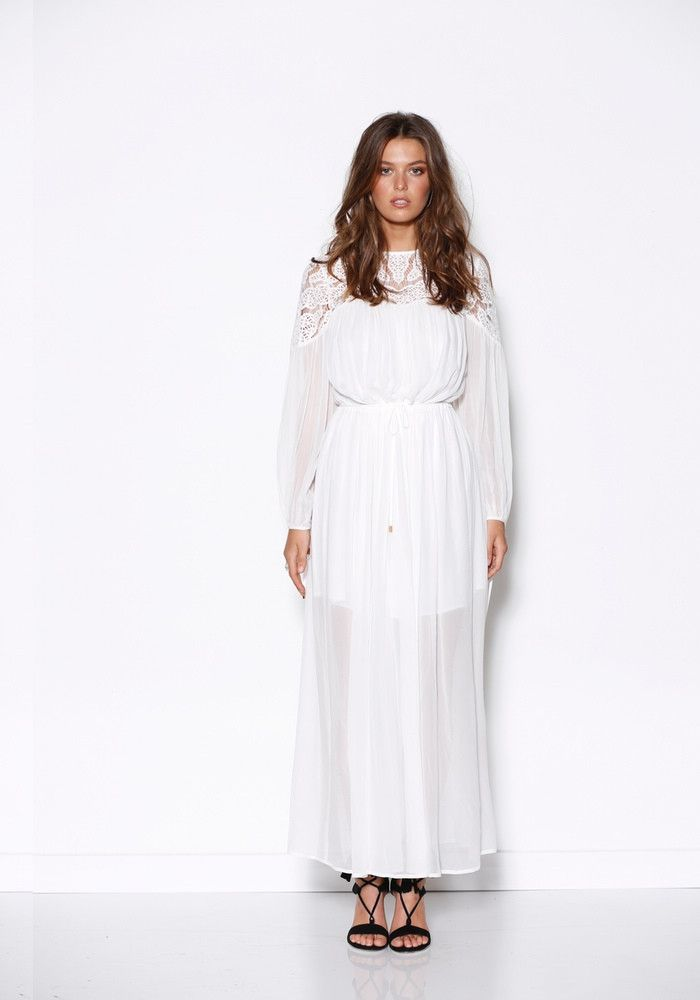 Ministry of Style - Vernal Maxi Tunic Dress - White