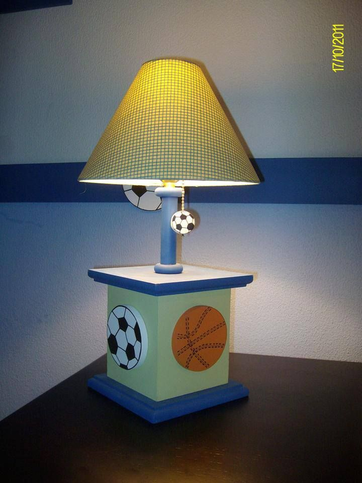 Sports lamp basketball, soccer and football for baby boy room decor - 48 Best Kids Lamps Images On Pinterest Kids Lamps, Table Lamps