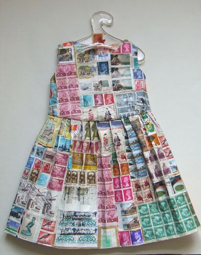 A dress of stamps from Jennifer Collier