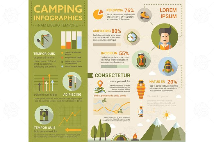 Camping Infografic Elements EPS