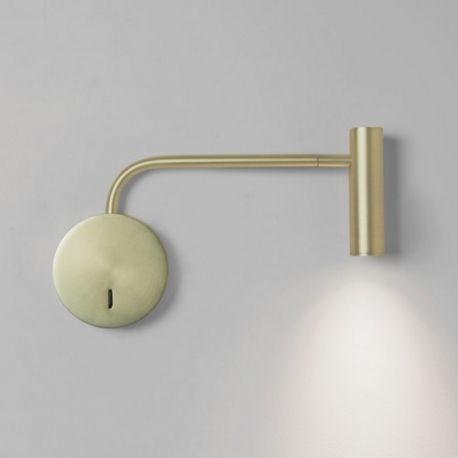 Superb Lampe LED design Applique Enna Or mat
