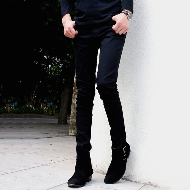 We love it and we know you also love it as well New Arrival Men`s Black Super Skinny Jeans Little Stretchy Elastic Slim Fit Pencil Pants For Male just only $26.59 with free shipping worldwide  #jeansformen Plese click on picture to see our special price for you