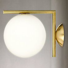 Buy Flos IC Lights 200 Wall Light, Brushed Brass Online at johnlewis.com
