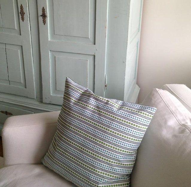 Cushion cover Dots blue/green by toodeloo