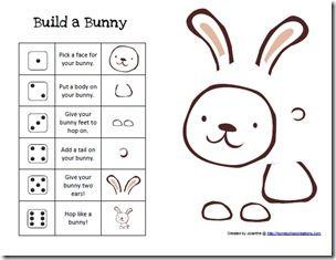 Build a Bunny Printable Game