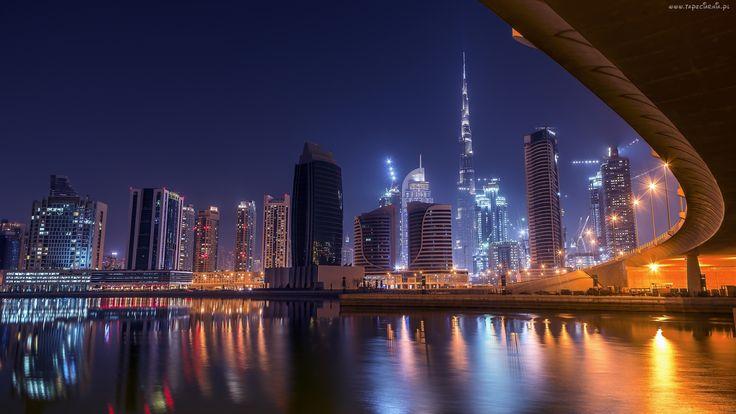 Dubaj, Nocą, Panorama