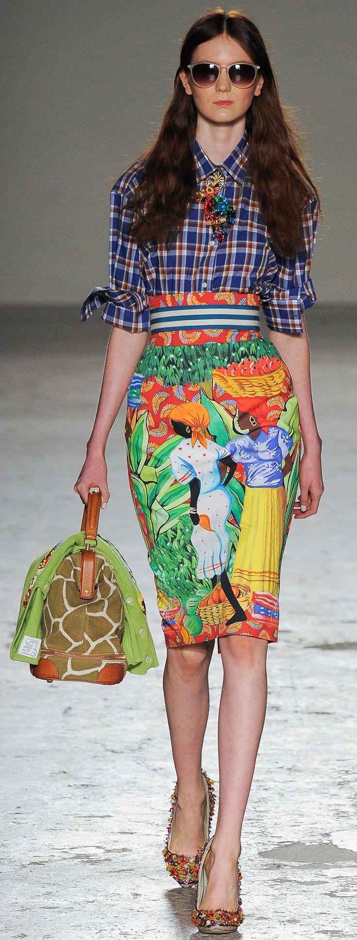 Farb-und Stilberatung mit www.farben-reich.com - Color fashion Glam / Stella Jean | Spring 2015