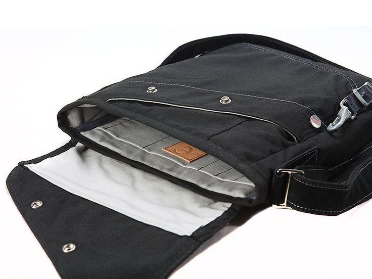 The Bravura Laptop Bag - made from repurposed pair of firefighter's torn out pants- love stuff like this