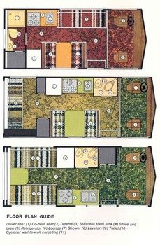 Floor Plans The 20s And Vintage Camper Interior On Pinterest