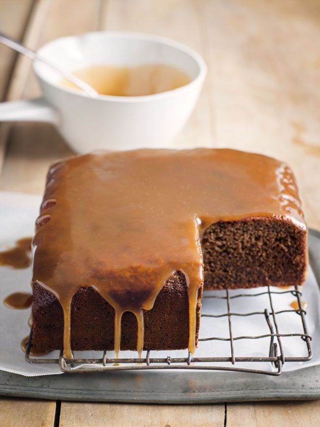 sticky date cake with toffee sauce from donna hay magazine