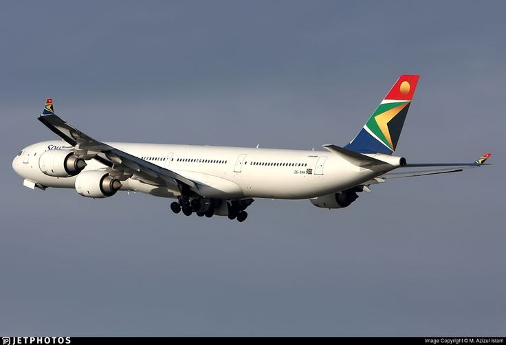 South African Airways Airbus A340-642 (registered ZS-SNH)