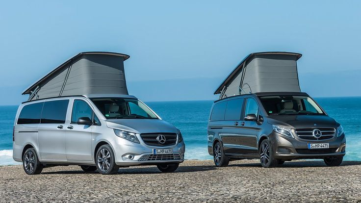 Mercedes V-class and Vito. Marco Polo, AMG Line and new pop-up roof.