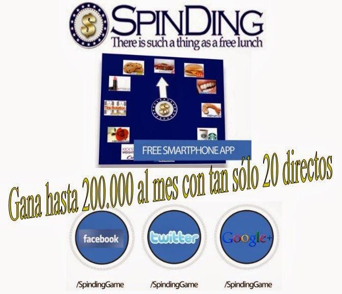 Spinding - La App que te hará Ganar Dinero :   Únete hoy GRATIS Comienza a ganar Comisiones. ...